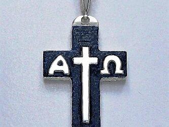 イエス・聖母マリア・教義・聖霊・使徒などを表した作品 イエスのモノグラムのクロス(A)ac91 好評ですの画像