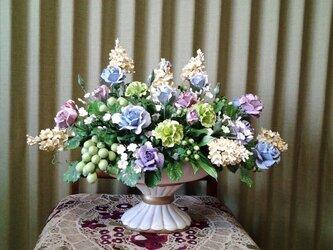 クレイフラワー(リヤドロ色の花盛)の画像
