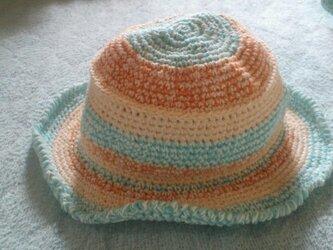 キッズ 浅め ツバ付き帽子2の画像