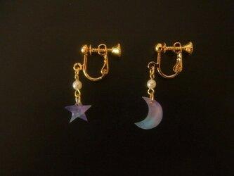 月と星のイヤリングの画像