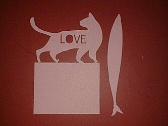 可愛い動物フセン 猫と魚各100枚入り の画像