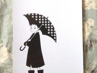 水玉雨傘の画像