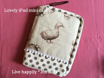 大人可愛いふかふかiPad mini case  / Duckの画像