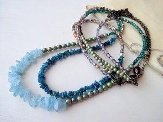 ブルー&グリーン 二連ネックレスの画像