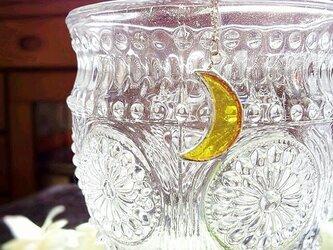 ステンドグラス 月のネックレス~ムーンライト~の画像