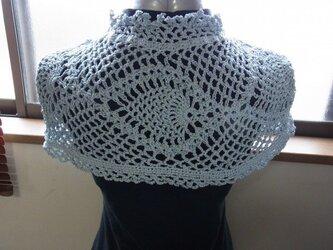 手編みケープの画像