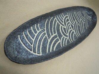 長皿(青海波模様)の画像