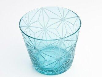 東京切子(花切子)グラス 千代紙 空色の画像