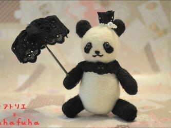 羊毛フェルト プチセレブ*パンダさんの画像
