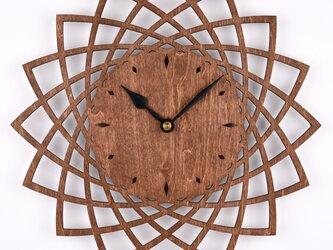 木の壁掛け時計A ダリア(木製ウォールクロック)の画像