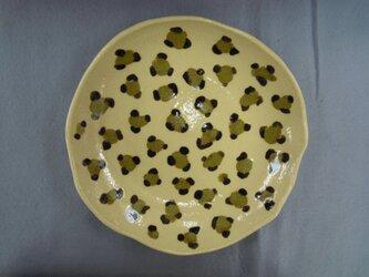 ヒョウ柄皿の画像