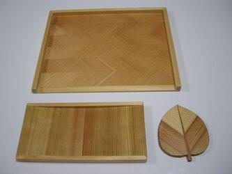 杉の木の皿(細長)の画像