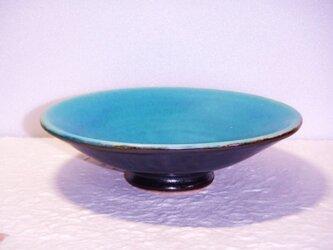 エメラルドブルーの小皿の画像