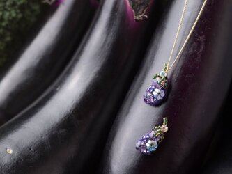 『野菜モチーフのアクセサリー/ピン』 aubergineの画像