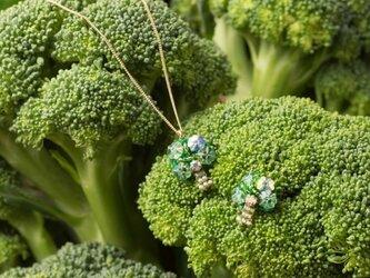 『野菜モチーフのアクセサリー/ピン』 brocoliの画像