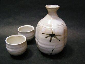 絵粉引徳利セット(松竹梅)の画像