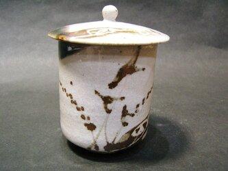 織部唐津蓋付き湯呑の画像