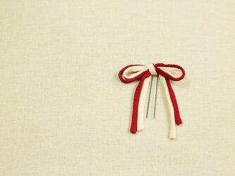 ちりめんリボン/紅白の画像