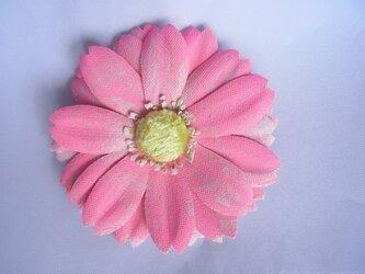 フリーペイントガーベラコサージュ(ピンク)の画像