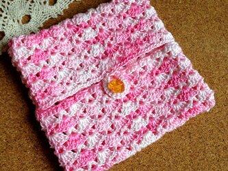 かぎ針編みのサニタリーケースの画像