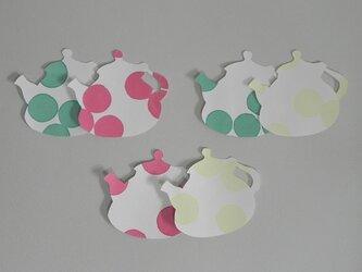 水玉カードTea Pot Dotの画像