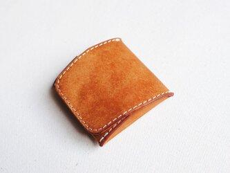 【受注生産】ボックス型コインケース(キャメル)の画像