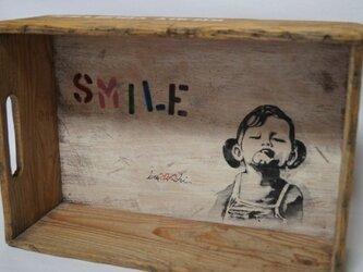 レトロ木箱★手描きの画像