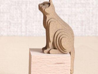 【工作キット】段々猫-sitting-aの画像