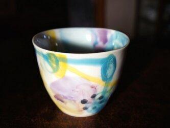 水彩カップ蕎麦猪口 infc14018-009の画像