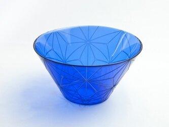東京切子(花切子)サラダボウル 千代紙 青の画像