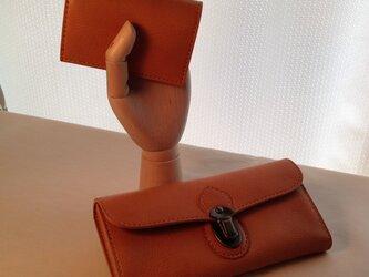 Sさまオーダー品*差し込み錠の長財布*カードケースの画像