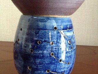 茶香炉ー呉須星宿紋の画像
