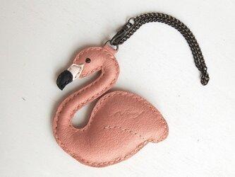 フラミンゴのバッグチャームの画像