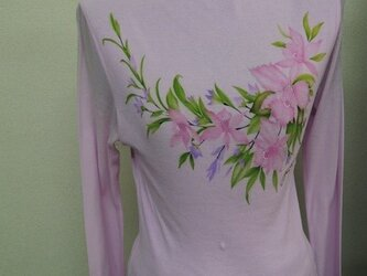 西陣手書きタートルネックシャツ◇ピンクの画像