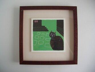 石畳_猫の画像