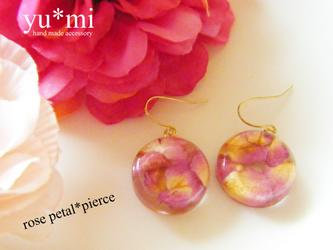 rose petal * pierce 薔薇の花びらピアスの画像
