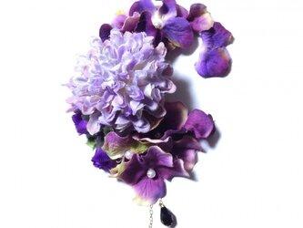 紫陽花とマムのイヤーフックE (パープル)右耳用の画像