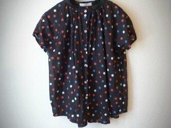 マルチドット ギャザーフレンチシャツの画像