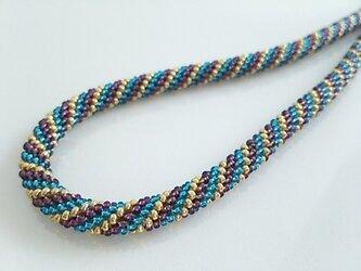 ●sold out●3色チューブ編みネックレスの画像
