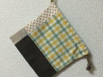 パッチワーク巾着の画像