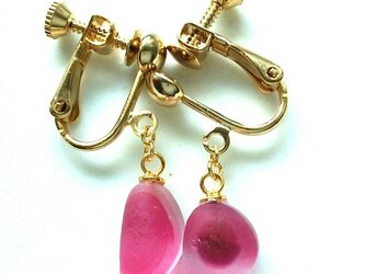 N様オーダー(再販)分、UKシーグラスの桜のイヤリングの画像