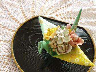 折り鶴 の花かごの画像