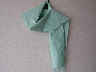【№23】ブルー レース織りマフラーの画像