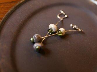 木の実とgreen perlのイヤリングの画像