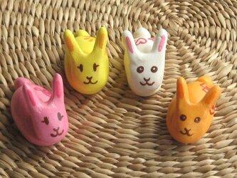 ウサギのハシ置きセットの画像