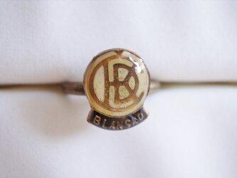 Vintageパーツのリング(CKD白の画像