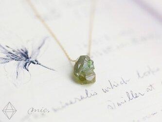 K10◆ダイヤに勝る輝き デマントイド原石ネックレスの画像