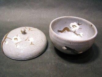 唐津蓋付き湯呑(梅)の画像