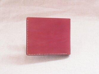 二つ折り財布 《 Ruby Red 》の画像