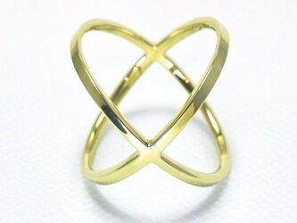 LOVE Ring『KISS』ブラスの画像